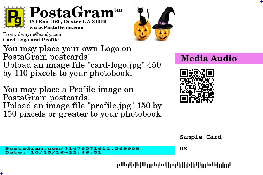 PostaGram.com Postcard Address Side